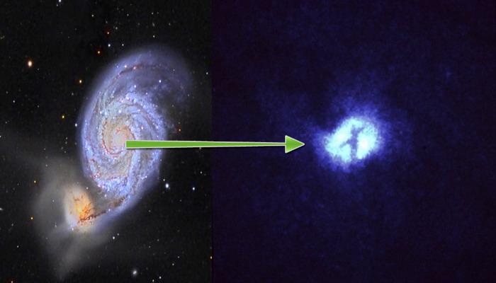El Telescopio Hubble de la NASA descubre una increíble cruz en el centro de una galaxia