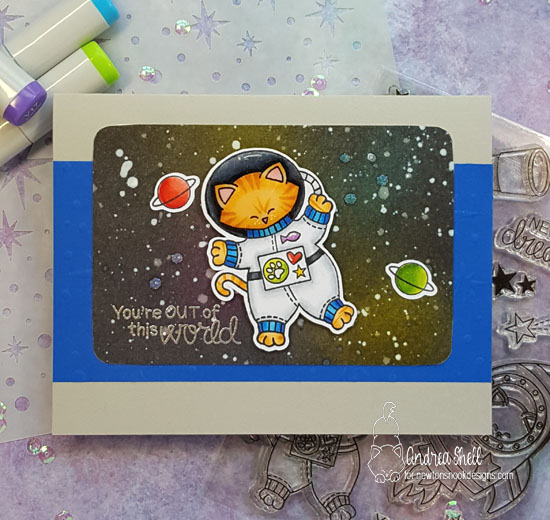 You're Out of this World by Andrea features Cosmic Newton and Starfield by Newton's Nook Design; #newtonsnook