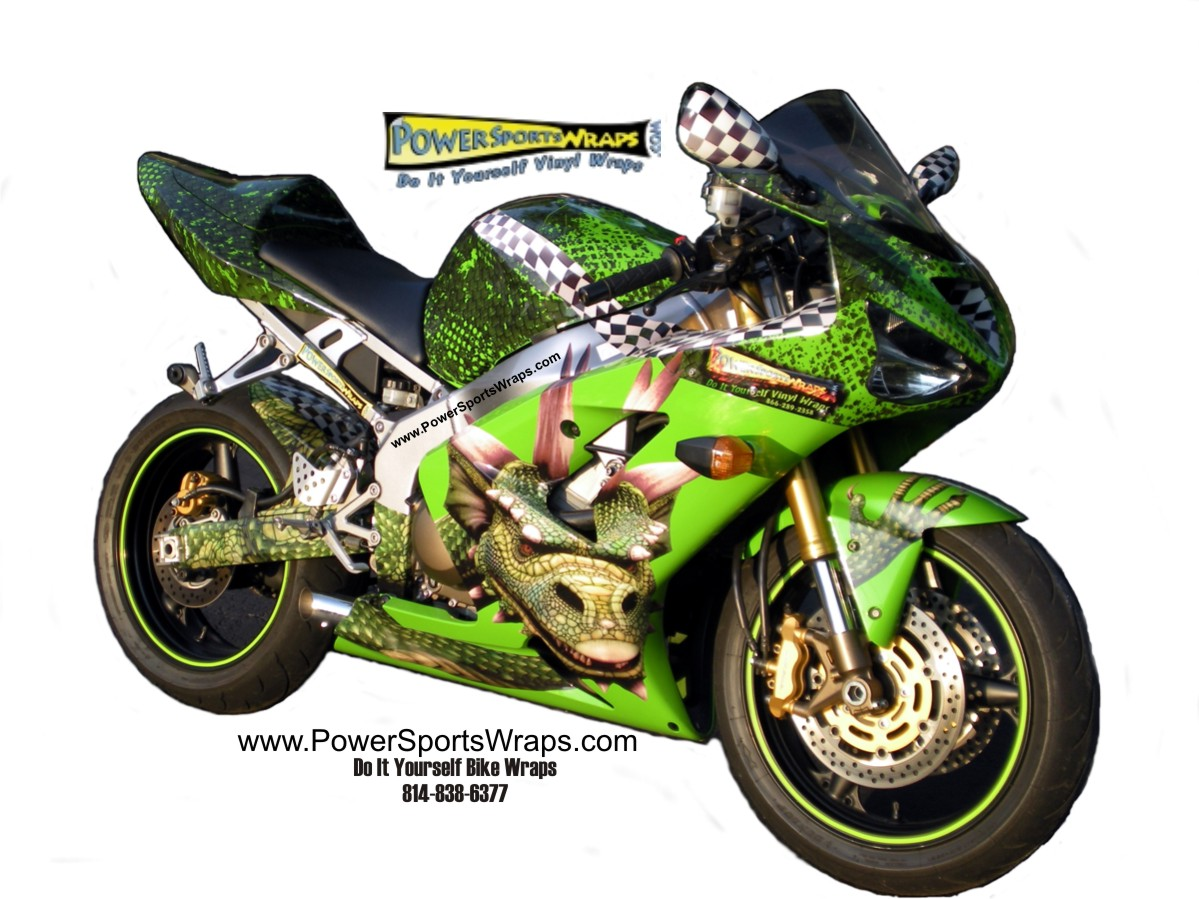 Custom image decals for motorcycles