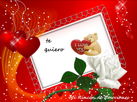 Tarjetas De Amor Con Frase Corazones Osito Y Rosas Mi