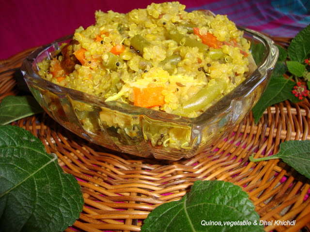 images of Quinoa Vegetable Dhal Khichdi / Quinoa and Dal Khichdi / Quinoa Vegetable Khichdi