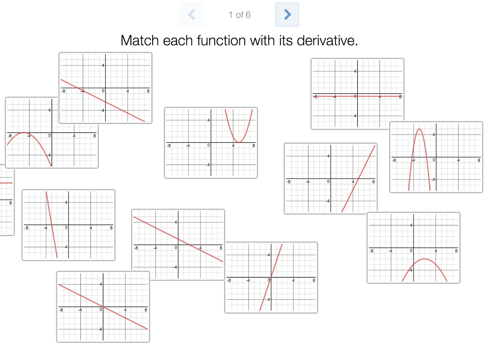 Graphs Of Functions And Their Derivatives Worksheet