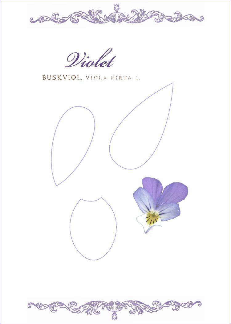Kell Belle Studio How To Make A Paper Violet Flower