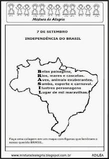 Acróstico palavra BRASIL