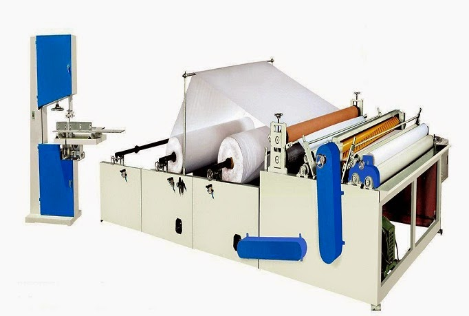 Toilet roll production machine