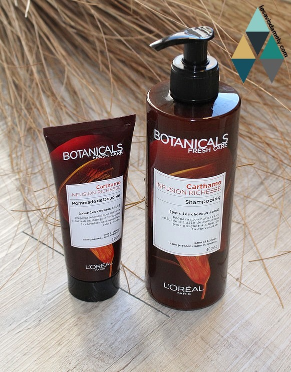 shampoing et pommade de douceur carthame infusion richesse