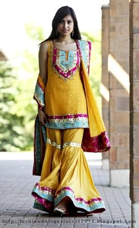 Long Frocks Pakistani Dresses Mehndi Designs