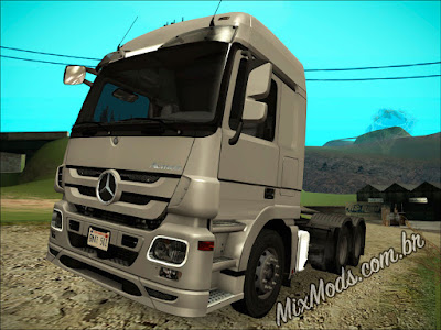gta sa mod caminhão mercedes benz actros 2646 imvehft leve sem lag