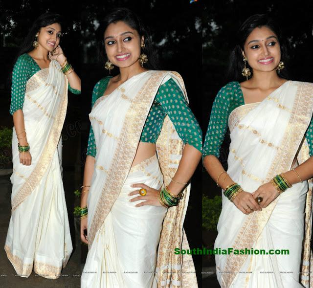 c19d9f32bc4ab Kerala Set Saree Blouse Latest Designs ✓ The Blouse