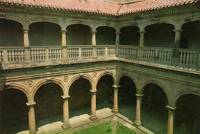 Monasterio de Zenarruza, claustro. Postal