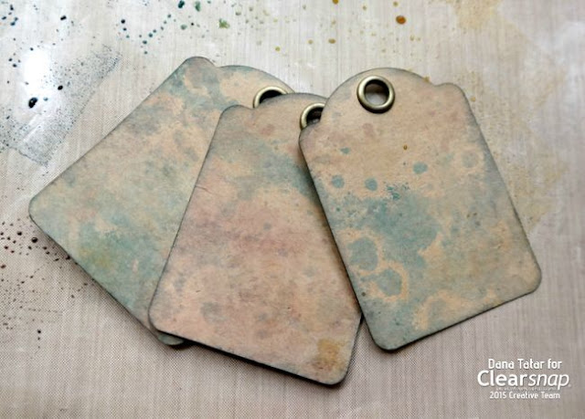 ColorBox Graphic 45 Decades Dye Ink Distressed Tags by Dana Tatar