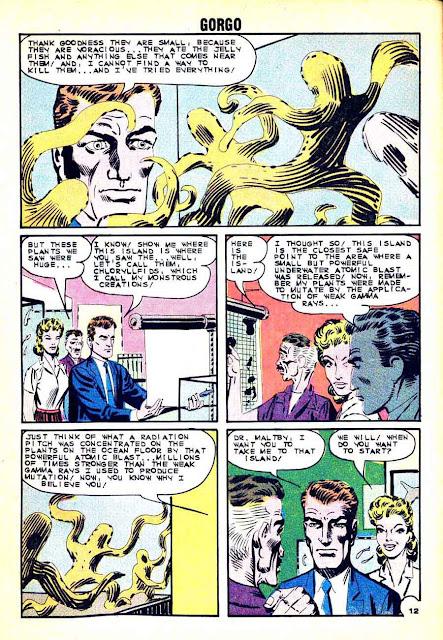 Gorgo v1 #16 charlton monster comic book page art by Steve Ditko