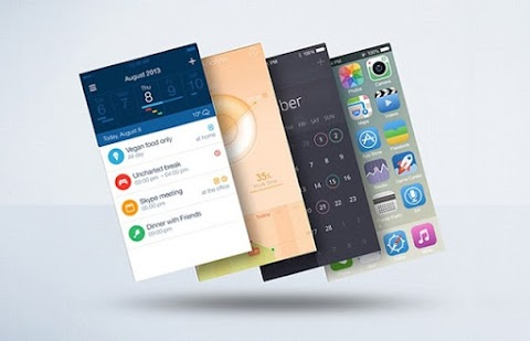 Mobile App Screens in PSD