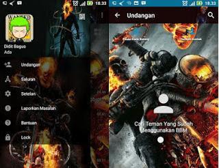 BBM MOD Ghost Rider v3.2.0.6 Apk