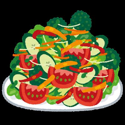 山盛りのサラダのイラスト