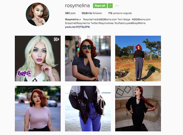 Cherry Diamond Lips Rosy Melina  Instagram account