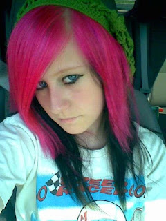 Funky Pink Color Hairstyles