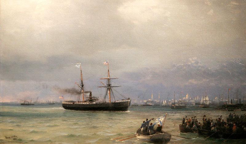 Картина Айвазовского Корабль помощи