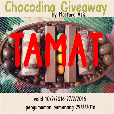 PEMENANG CHOCODINA GIVEAWAY BY MASTURA AZIZ