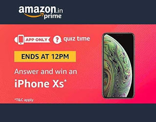 All Answer of Amazon Iphone Xs Quiz Time Contest