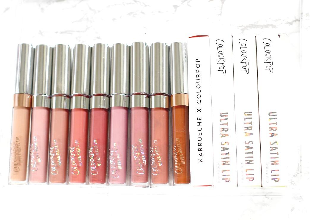 colourpop Chi, Bianca, Beeper, Bumble, Tulle, Kae, Chilly Chili, Lumiere 2 and StingRaye ultra matte liquid lipstick swatch