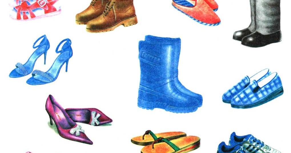 Картинки с обувью и головными уборами