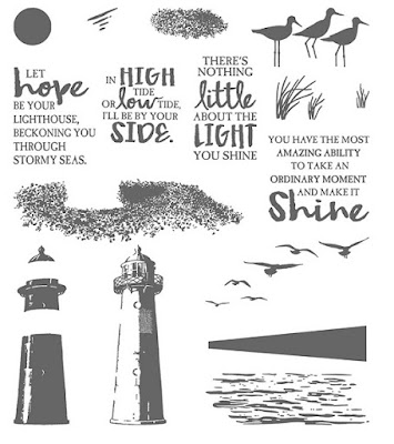This picture shows the images that comprise the High Tide Stamp Set by Stampin' Up!