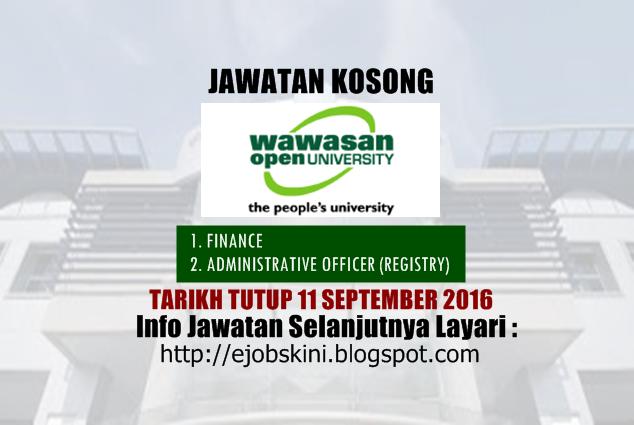 Jawatan kosong di Wawasan Open University September 2016