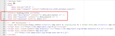 Get meta_description and meta_keyword to the product page