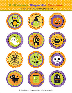 http://ninaseven.blogspot.com/2011/10/free-halloween-cupcake-toppers.html