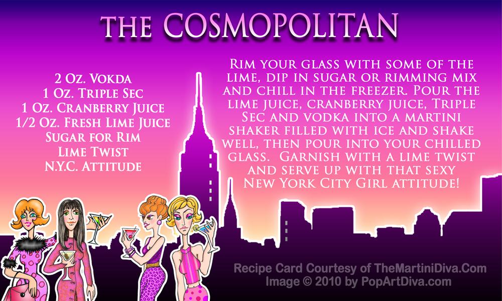 Sex and the city cosmo recipie