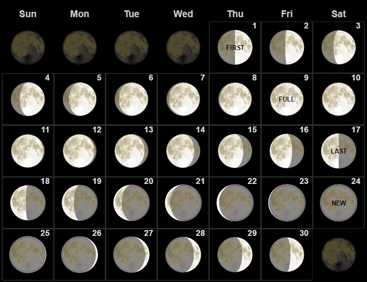 June Calendar With Moon Phases : Printable calendar template free