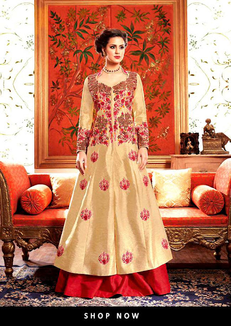 Latest Frock Salwar Kameez Suits 2017