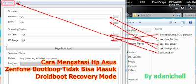 Cara Mengatasi Hp Asus Zenfone Bootloop Tidak Bisa Masuk Droidboot Recovery Mode
