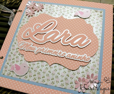 álbum de mensagens recordações jardim encantado floral rosa passarinhos delicado poá menina festa 1 aninho