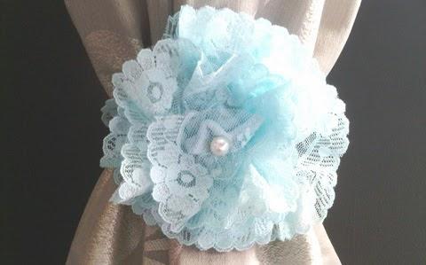 窗簾綁帶|各式形態造行綁帶,例圖為花朵樣式