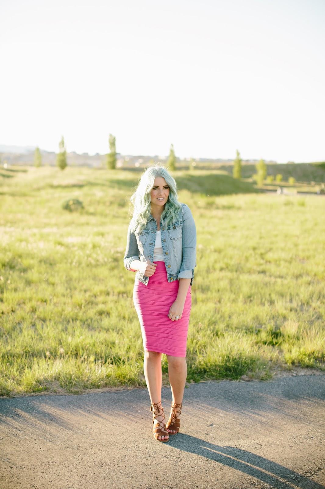Scrunchy Skirt, Basics, Utah Blogger