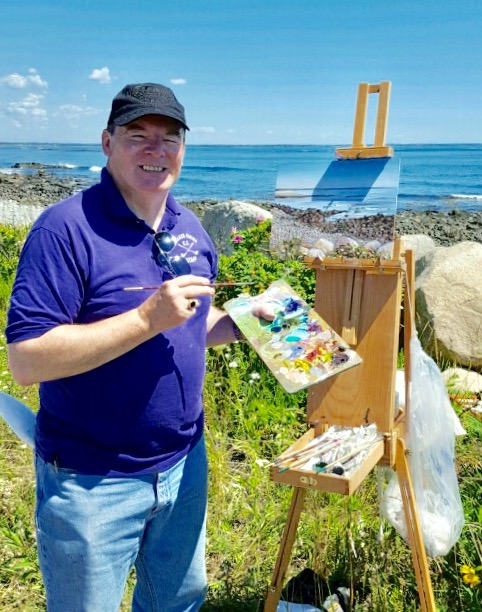 Painting last summer on location in Maine!