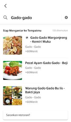 Gado-gado dan Ketoprak Margonjreng di Grabfood