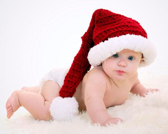 Christmas baby santa hat Crochet pattern