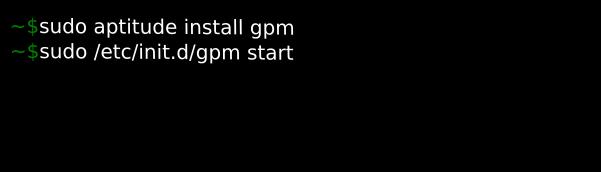 instalar pacote gpm para mouse modo texto no terminal de comando tty
