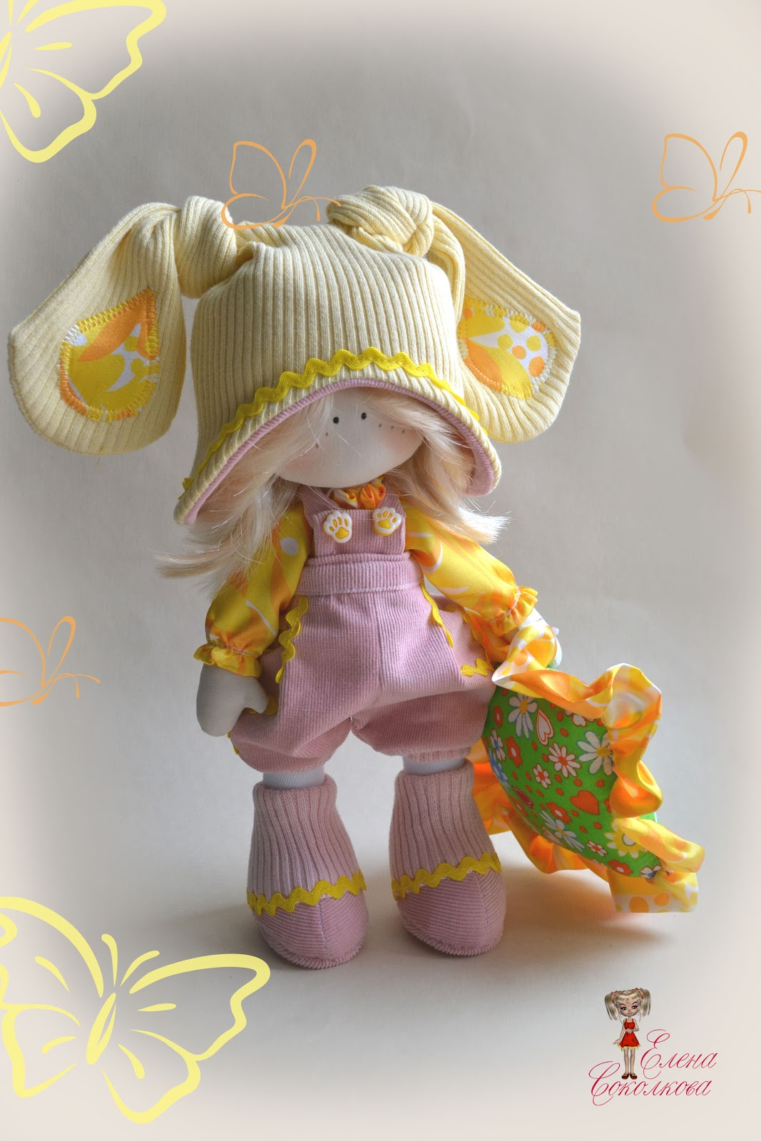 Шьем куклу с большими ногами мастер класс поделка #4