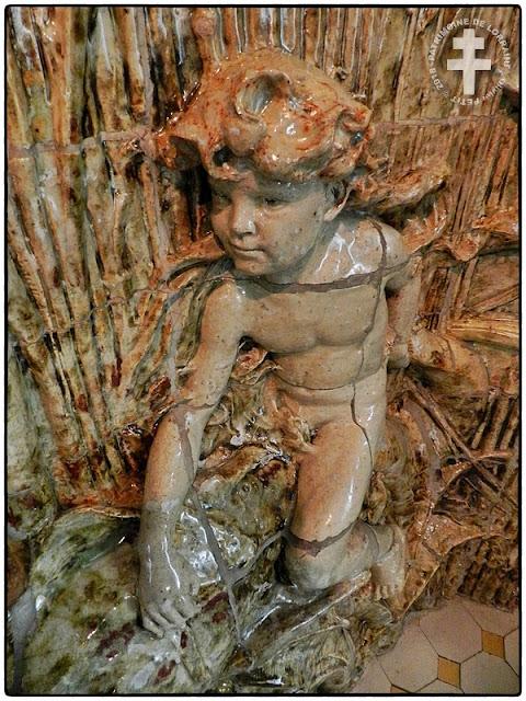 NANCY (54) - Musée de l'Ecole de Nancy : Fontaine au dauphin et nymphe