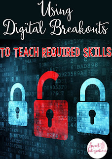 Using digital breakouts in the classroom is a sure way to engage students while working on important skills, cooperation, team building, and much more. These fun escape rooms include a game format, solving puzzles, a little competition, and applying high-interest activities for learning important skills. Click through to see how your students or homeschool kids will benefit from these. Options available for 1st, 2nd, 3rd, 4th, 5th, 6th, or 7th grade elementary or middle school students.