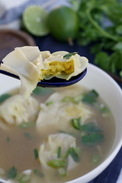 Lemongrass Chicken Dumpling Soup - Dumplings All Day Wong blog tour
