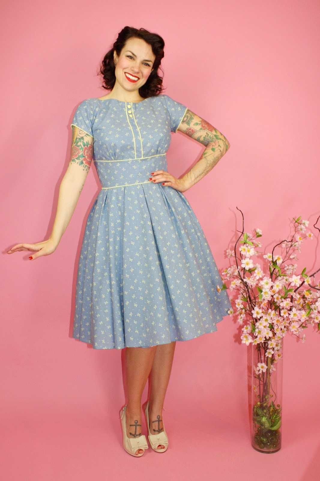 Gerties New Blog For Better Sewing Chambray Bow Day Dress