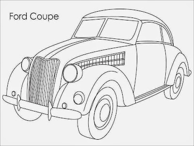 Ford Coupe Coloring Pages