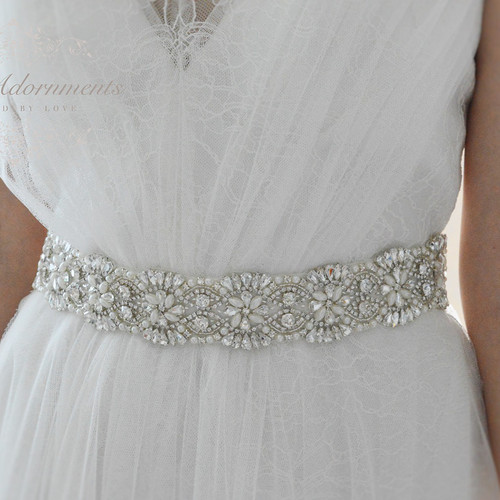 Accessories For I Do, Bridal Waist Pearls Belt Sash