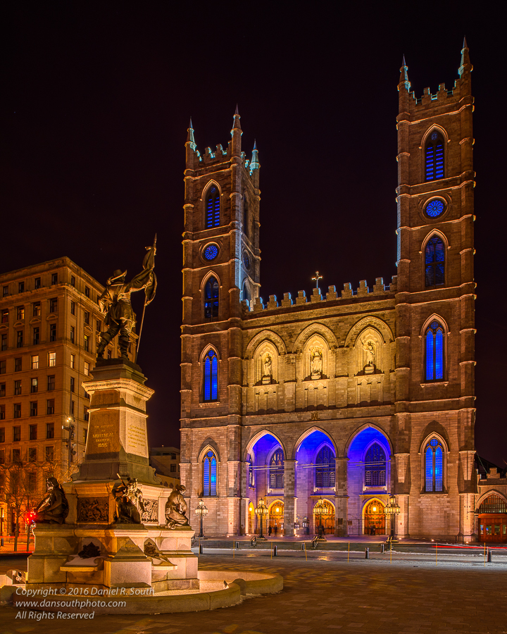 a photo of la place d'armes in montreal by daniel south
