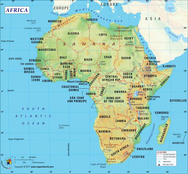 خريطة قارة افريقيا Africa Map